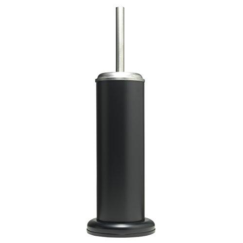 Sealskin Acero Toilet Brush Holder Bathroom Accessory, black, 12.6 x 12.6 x 41 cm
