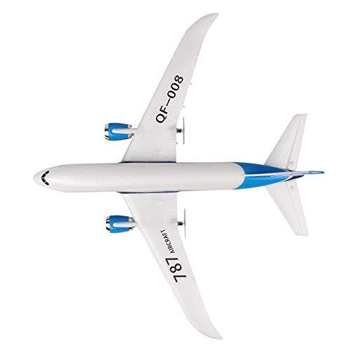 Seasons Shop RC Airplane Outdoors Foam Airplane Airbus Toy Model DIY 3 Channel Remote Control Airplane for Adults, Children, Teens , White, Double battery serviceable