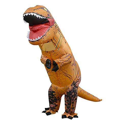 Seawang Dinosaur Inflatable Costume Kids, Inflatable Dinosaur Costume T Rex Children Halloween Cosplay (Light Brown)