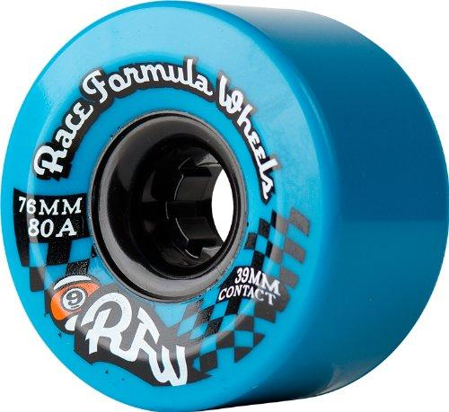 Sector 9 Race Formula 76mm Longboard Skateboard Wheels - blue (80a) 76mm