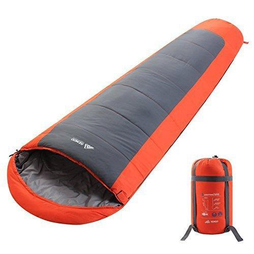 Semoo Warm Mummy Sleeping Bag 4 Season,Adult&Child Camping Sleeping Bag Weather from 2 to 20 °C