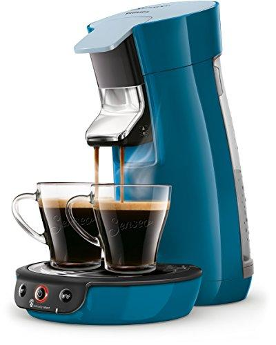Senseo Viva Café HD6563/70 coffee maker Freestanding Pod coffee machine Blue 0.9 L 6 cups Fully-auto Viva Café HD6563/70, Freestanding, Pod coffee machine, 0.9 L, Coffee pod, 1450 W, Blue