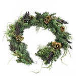 Set 2 x Artificial Christmas Garland, Fir-Cedar-Berries-Cones, 6 ft / 180 cm - 2 pieces Plastic Garland / Decoration Arrangement - artplants