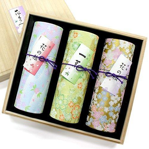 Set of 3 gift for incense stick than (for gifts, gift incense) flowers (japan import)