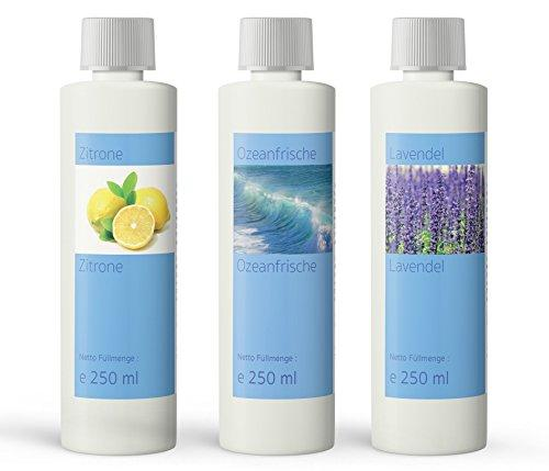 Set of 3 scents for all popular steam cleaners, 3 x 250 ml, made in Germany