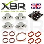 Set of 4 x 22MM swirl flap delete kits for M47 and M57 diesel engines with intake manifold gaskets …