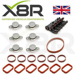 Set of 6 x 22MM swirl flap delete kits for M47 and M57 diesel engines with intake manifold gaskets …
