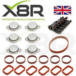 Set of 6 x 33MM swirl flap delete kits for M47 and M57 diesel engines with intake manifold gaskets