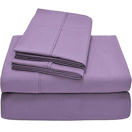 SGI Bedding EGYPTIAN COTTON EURO DOUBLE IKEA ONE FITTED SHEET ONLY 600 Thread Count Lilac Solid 46 Cm Deep Pocket # Exotic Europe Collection