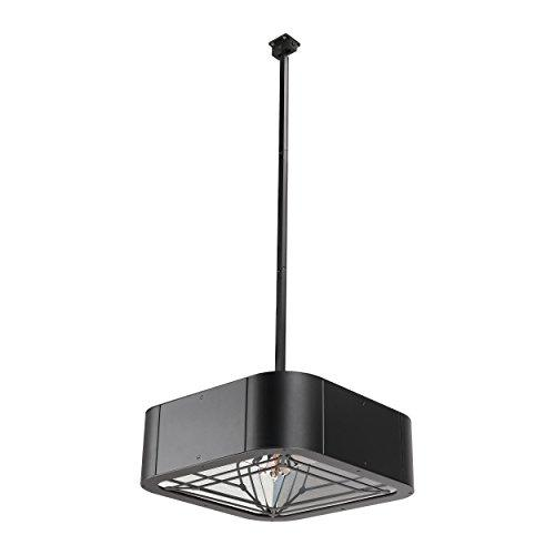 Shadow Pendant 2kW Hanging Electric Infrared Patio Heater, Black