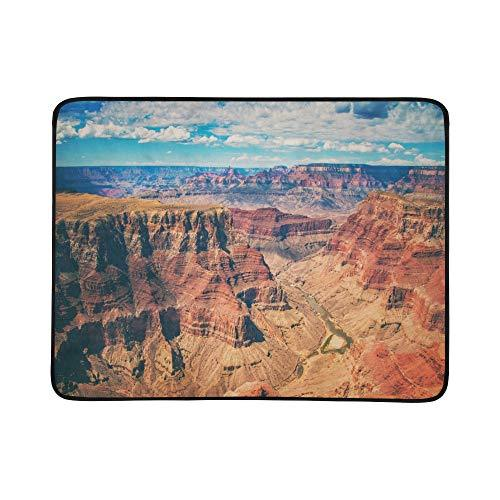SHAOKAO Amazing Views Of Grand Canyon Arizona Pattern Portable And Foldable Blanket Mat 60x78 Inch Handy Mat For Camping Picnic Beach Indoor Outdoor Travel
