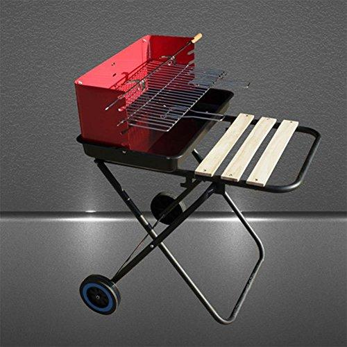 SHAOXKAOJIA 85 * 74 * 47 Barbecue Stove Stainless Steel for Easy Carrying Wheel