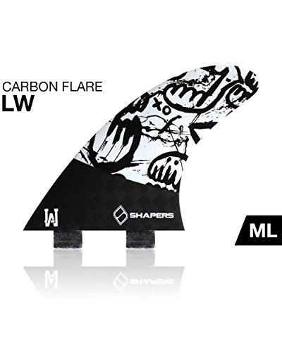 Shapers FCS Carbon Flare Lee Wilson Surfboard Tri Fin Set