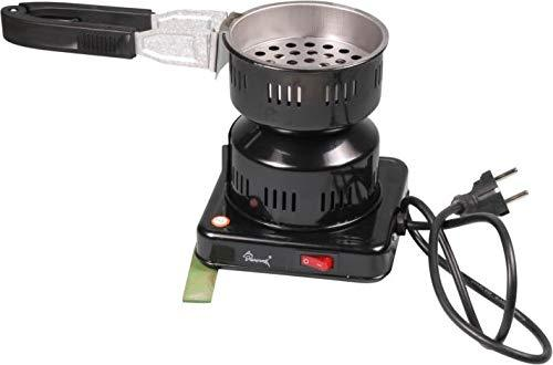 Shark Electric Coal Lighter 500W Coal Burner Shisha with Mobile Charcoal Basket and Tongs