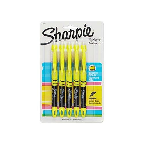 Sharpie 24527PP Accent Liquid Pen-Style Highlighter, Yellow, 5-Pack by Sharpie