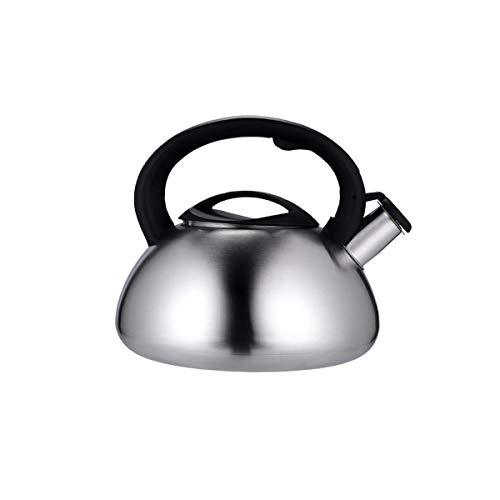 Shengshihuizhong Kettle, suitable for home kitchen, outdoor, stainless steel kettle, induction cooker gas stove whistle teapot, silver, 3L, (21 * 16) cm, 4.5L (24 * 18) cm