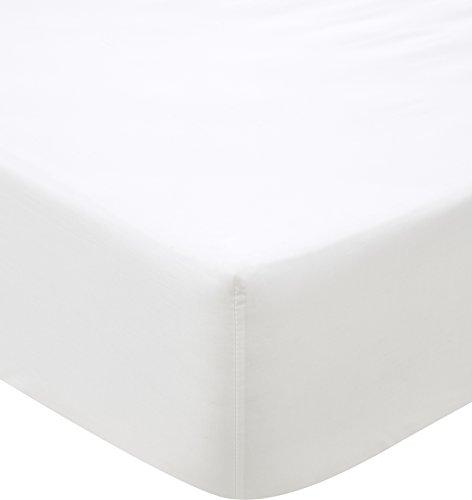 Sheridan 500 Thread Count Cotton Sateen Snow Fitted Sheet SUPERKING 180X203X38cm, Super-King