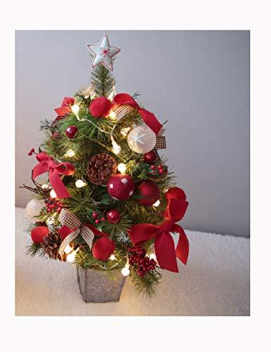 Shhaljj Desktop decoration Christmas decoration 23in/35in Christmas tree package Hotel window decoration arrangement Green with Christmas tree with cones and red berries (Size : 35in)