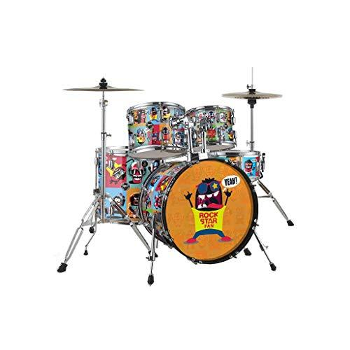 SHLIN-Drum Children's Music Toy Drums Adult Beginner Percussion Instrument Maple Wood Test Drum (color : Rock, Size : 2)