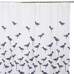 Shower Curtain Waterproof and Mildew Proof Decorative Bathroom Curtains with Hooks,Bird Pattern Polyester Shower Curtains Extra Long 200x200cm