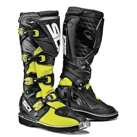 Sidi X3-Xtreme SRS Motorbike Scooter Motocross Off Road Quad Enduro Motorcycle MX Boots, Yellow Fluo/Black - Yellow - EC 46