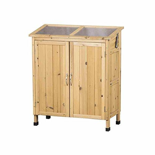 Siena Garden 748848 Plant Cupboard with Doors and Lid 90 x 39 x 23 cm
