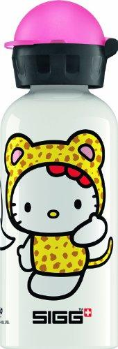 Sigg Cheetah Costume Kids Hello Kitty Bottle, White/Pink, 0.4 litres
