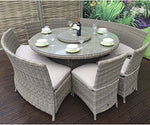Signature weave Cayman 4 Plus 2 Bench Dining Set, Bamboo, 180x95x95 cm