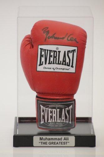 SIGNED BOXING GLOVE DISPLAY CASE WITH CLASSIC BLACK BASE