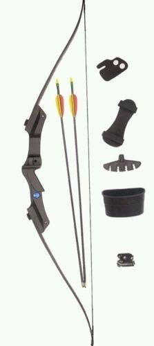 SILCO Archery Black Youth Recurve Bow Set 20Lbs WITH EXTRA ARROWS & TARGETS