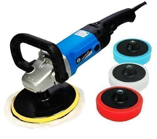 Silverline Trade Car Sander Polisher Kit + 5 Heads