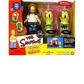 Simpsons - Interactive Environment (Playset) - Alien Spaceship - Treehouse of Horror 2 (THOH2) - TRU exclusive w/3 exclusive figures (Alien Ship Homer, Kang and Kodos) by Playmates Toys, Inc.