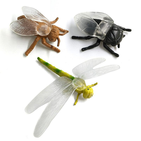 ... Simulation Animals Models Figurine Dragonfly Ant Beetle Insect  Miniature Garden Home Decoration Accessories Childrenu0027s Toys ...