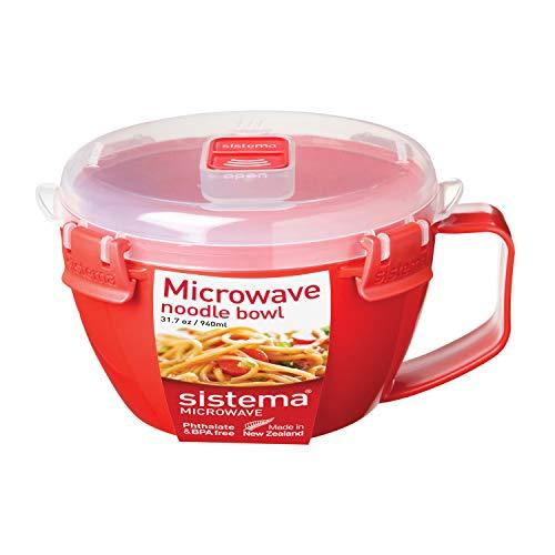 Sistema Microwave Noodle Bowl, Red, 940 ml