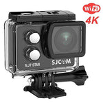 "SJCAM 4K Sport Action Camera, SJ7 Star WIFI Waterproof Camera- 4K/30FPS Ambarella Chipset/2"" Touch Screen/Sony Sensor/Remote Control/Microphone Supported/Gyro Stabilization for Snorkelling(Black)"