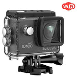 SJCAM SJ4000 Wifi Action Camera Sport Waterproof Underwater Camera 12MP 1080P 30M Camera with Waterproof Case & Accessories Included (Black)