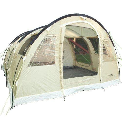 Skandika Gotland Group or Family Tunnel Tent with Sewn-In Groundsheet, Grey, 5 Persons