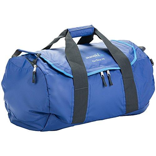 skandika On Tour Travel Sports Bag Tough Durable Water Resistant PVC Canvas, Wet Compartment, Adjustable Carry System Medium Blue