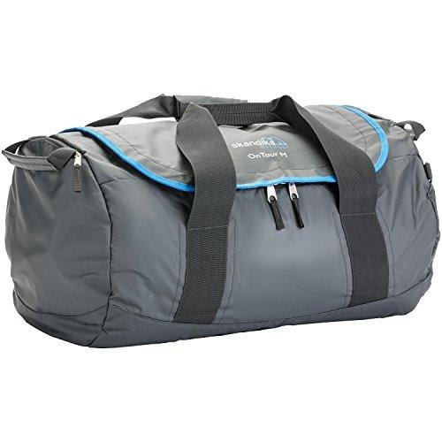 skandika On Tour Travel Sports Bag Tough Durable Water Resistant PVC Canvas, Wet Compartment, Adjustable Carry System Medium Grey