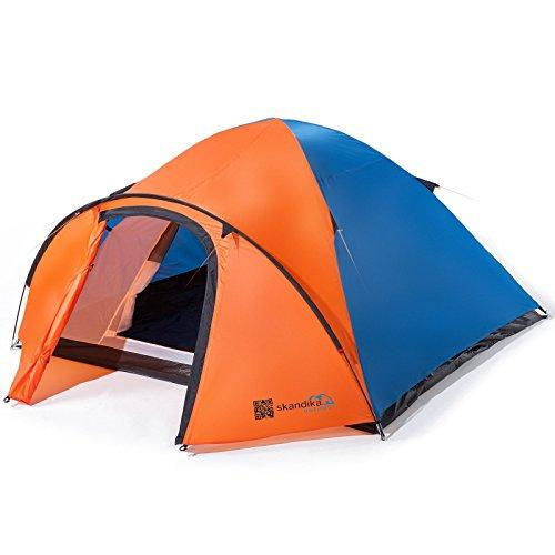 Skandika Unisex's Larvik 4 Dome Tent, Blue/Orange, Size 4