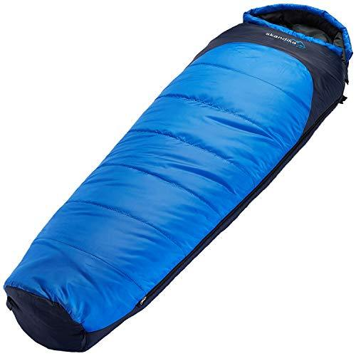 Skandika Water Resistant Highland Unisex Outdoor Mummy Sleeping Bag available in Blue - Size 220 x 70 cm
