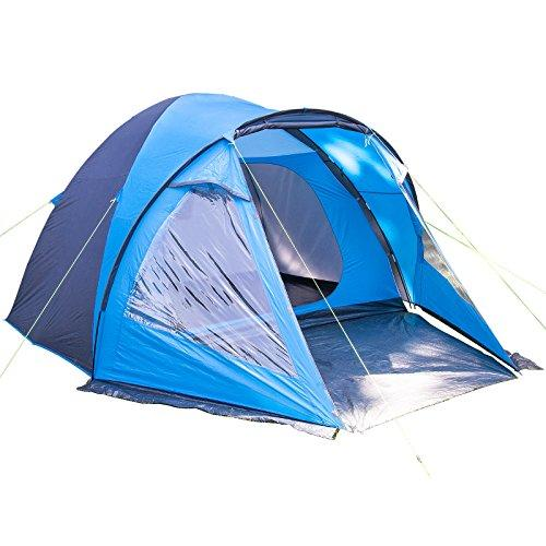 Skandika Waterproof Drammen Spacious Men's Outdoor Dome Tent available in Blue/Black - 4 Persons