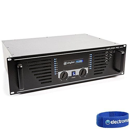 "Skytec PA Speaker Amplifier Mobile DJ Disco Stereo Amp 19"" Rack 2000W Black"