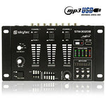Skytec STM-3020B 6 Channel Mini Live Line DJ Mixer with USB MP3