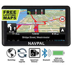 SLIMLINE SAT NAV, 7 Inch with Bluetooth + 2019 UK EUROPE [Pre-Installed] + FREE Lifetime Map Updates, GPS Navigation for Car Truck Motorhome Includes Postcodes, Speed Camera Alerts & POI, 512MB