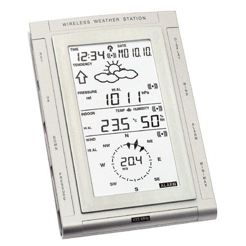 Smart Effects Technoline WS2307 Weather Centre with Clock, Software, and weather station instruments including outside sensor, rain guage and wind speed and direction