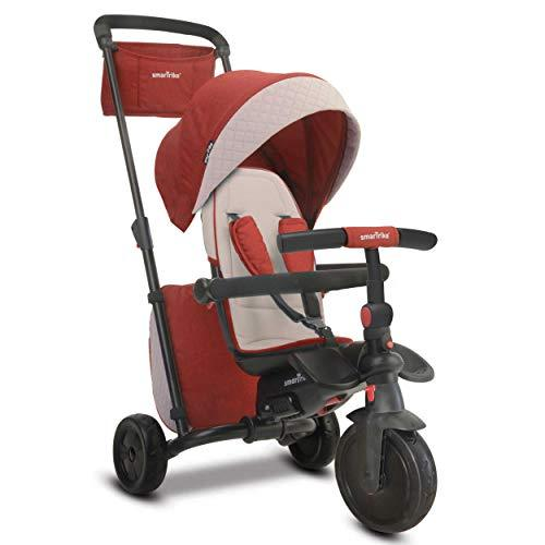 smarTrike smarTfold 600 Folding Baby Tricycle for 1 Year Old, Red