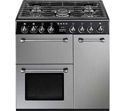 Smeg bm93s Standalone 158L Own Oven and Stove – Ovens & Cookers (Silver, Black, Medium, Electric, Gas, 444 x 425 x 316 mm 245 – 50 °C)