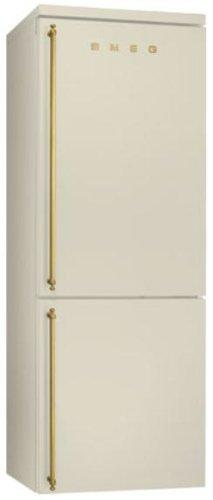 Smeg fa8003p Freestanding 346L A + Color Cream Fridge and Freezer – Freestanding Fridge Freezer, Cream Colour, Right, Glass, 356 L, 397 (L)