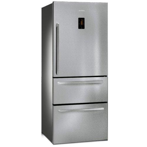 Smeg FT41BXE No Frost 3 Door Fridge Freezer - Stainless Steel